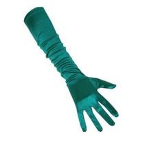 PartyXplosion - Handschoenen - Satijn - Turquoise - 48cm