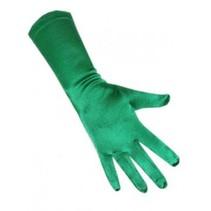 PartyXplosion - Handschoenen - Satijn - Groen - 48cm