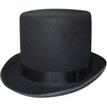 PartyXplosion - Hoge hoed - Deluxe - Zwart