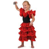 PartyXplosion - Kostuum - Spaanse jurk - Andalusie - mt.128