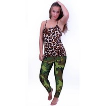 PartyXplosion - Legging - Camouflageprint - S/M*