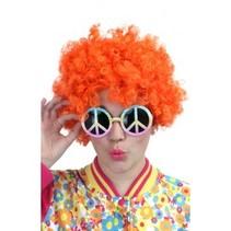 PartyXplosion - Pruik - Hippy - Oranje*