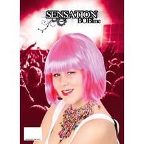 PartyXplosion - Pruik - Sensation - Bobline - Roze