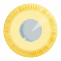 Partychimp - Gekleurde lenzen - Avatar yellow - 3mnd.