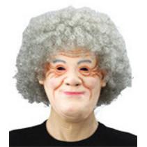 Witbaard - Masker - Oude vrouw - Foam
