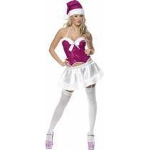 Smiffys - Kostuum - Santa girl - Roze - Sexy - S