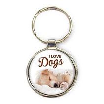 Miko - Sleutelhanger - I love dogs - Rond
