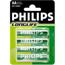 Philips - Batterijen - Longlife - AA - 4st.