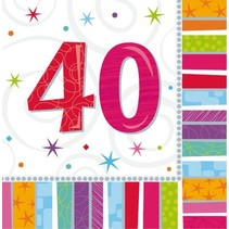 Amscan - Servetten - Radiant birthday - 40 jaar