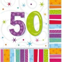 Amscan - Servetten - Radiant birthday - 50 jaar