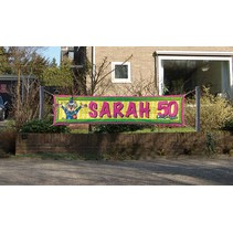 Folat - Straatbanner - Sarah - 50 Jaar