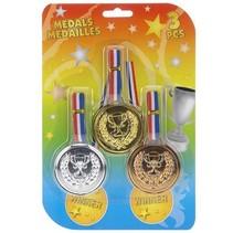 Witbaard - Medailles - Goud, zilver & brons