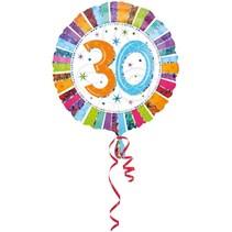 Anagram - Folieballon - Radiant - 30 Jaar - Zonder vulling - 43cm