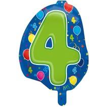 Folat - Folieballon - Shape - 4 - Zonder vulling - 56cm