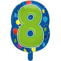 Folat - Folieballon - Shape - 8 - Zonder vulling - 56cm