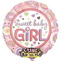 Anagram - Folieballon - Singing - Sweet baby girl - Zonder vulling - 71cm