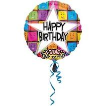 Anagram - Folieballon - Singing - Happy Birthday - Zonder vulling - 71cm