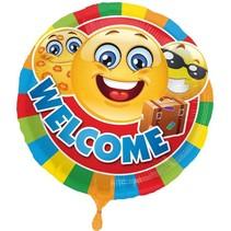 Folat - Folieballon - Smiley - Welcome - Zonder vulling - 43cm