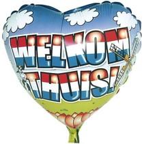 Folat - Folieballon - Hart - Welkom thuis - Zonder vulling - 43cm