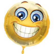 Folat - Folieballon - Smiley - Zonder vulling - 43cm
