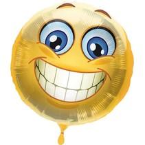 Folat - Folieballon - Smiley - Zonder vulling - 45cm