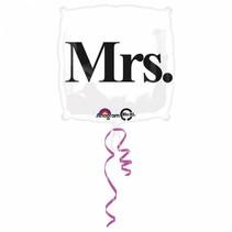 Anagram - Folieballon - Shape - Mrs. - Zonder vulling - 43cm