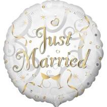 Anagram - Folieballon - Just married - Zonder vulling - 43cm