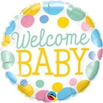 Qualatex - Folieballon - Welcome baby - Zonder vulling - 43cm