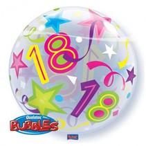 Qualatex - Folieballon - Bubble - 18 Jaar - Zonder vulling - 56cm