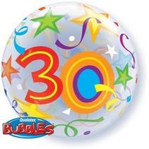 Qualatex - Folieballon - Bubbles - 30 Jaar - Zonder vulling - 56cm