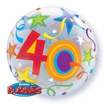 Qualatex - Folieballon - Bubbles - 40 Jaar - Zonder vulling - 56cm