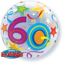 Qualatex - Folieballon - Bubble - 60 Jaar - Zonder vulling - 56cm