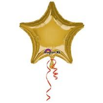 Anagram - Folieballon - Ster - Goud - Zonder vulling - 43cm