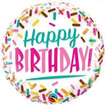 Folat - Folieballon - Happy birthday - Zonder vulling