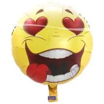 Folat - Folieballon - Emoticon - Crazy love - Zonder vulling