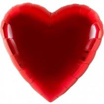 Anagram - Folieballon - Shape - Hart - Rood - Zonder vulling - 45cm