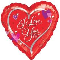 Anagram - Folieballon - Shape - Hart - I love you - Zonder vulling - 45cm