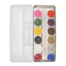 Superstar - Schminkpalet - Aqua - Basic - Bright colors - 12 kleuren.