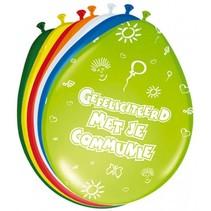 Folat - Ballonnen - Communie - Gekleurd