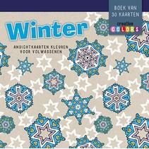 Lantaarn - Ansichtkaarten kleuren - Winter - 30dlg.