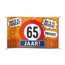 Paperdreams - Vlag - Hoera, 65 jaar - 150x90cm