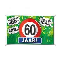Paperdreams - Vlag - Hoera, 60 jaar - 150x90cm