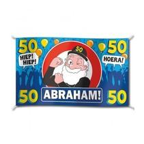Paperdreams - Vlag - Abraham, 50 jaar - 150x90cm