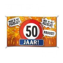 Paperdreams - Vlag - Hoera, 50 jaar - 150x90cm