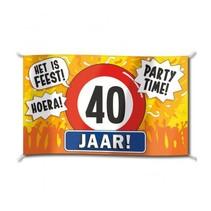 Paperdreams - Vlag - Hoera, 40 jaar - 150x90cm