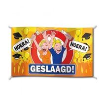 Paperdreams - Vlag - Hoera, geslaagd - 150x90cm