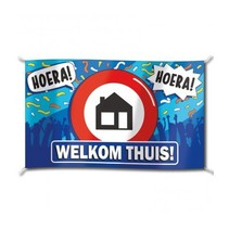 Paperdreams - Vlag - Welkom thuis - 150x90cm