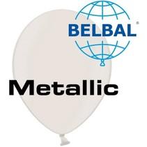 Belbal - Ballonnen - Wit - Metallic - 100st.