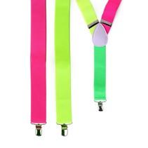 PartyXplosion - Bretel - Fluor roze/geel/groen
