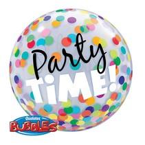 Qualatex - Folieballon - Bubble - Party time - Zonder vulling - 56cm